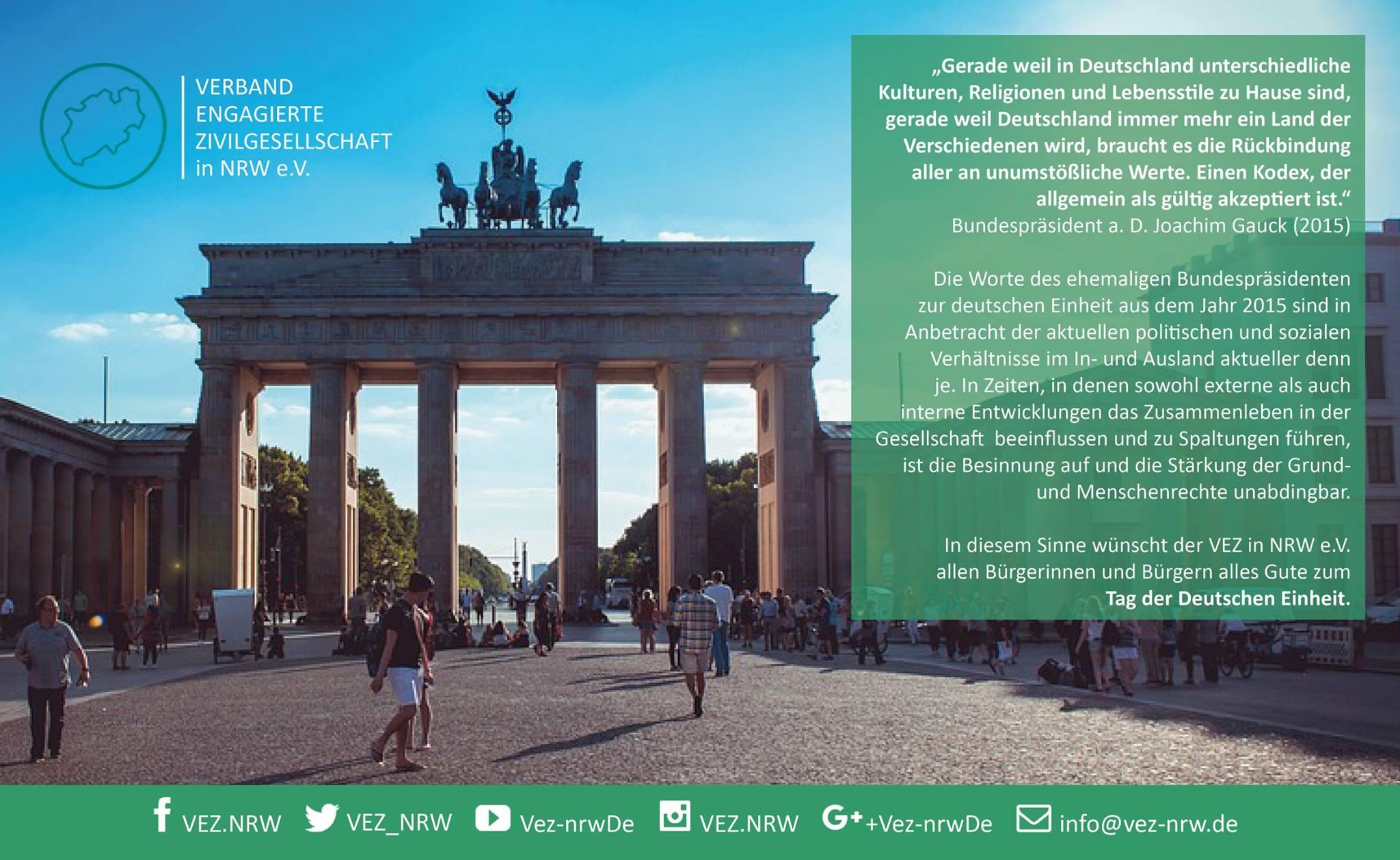 Tag der Deutschen Einheit: Grund- und Menschenrechte stärken