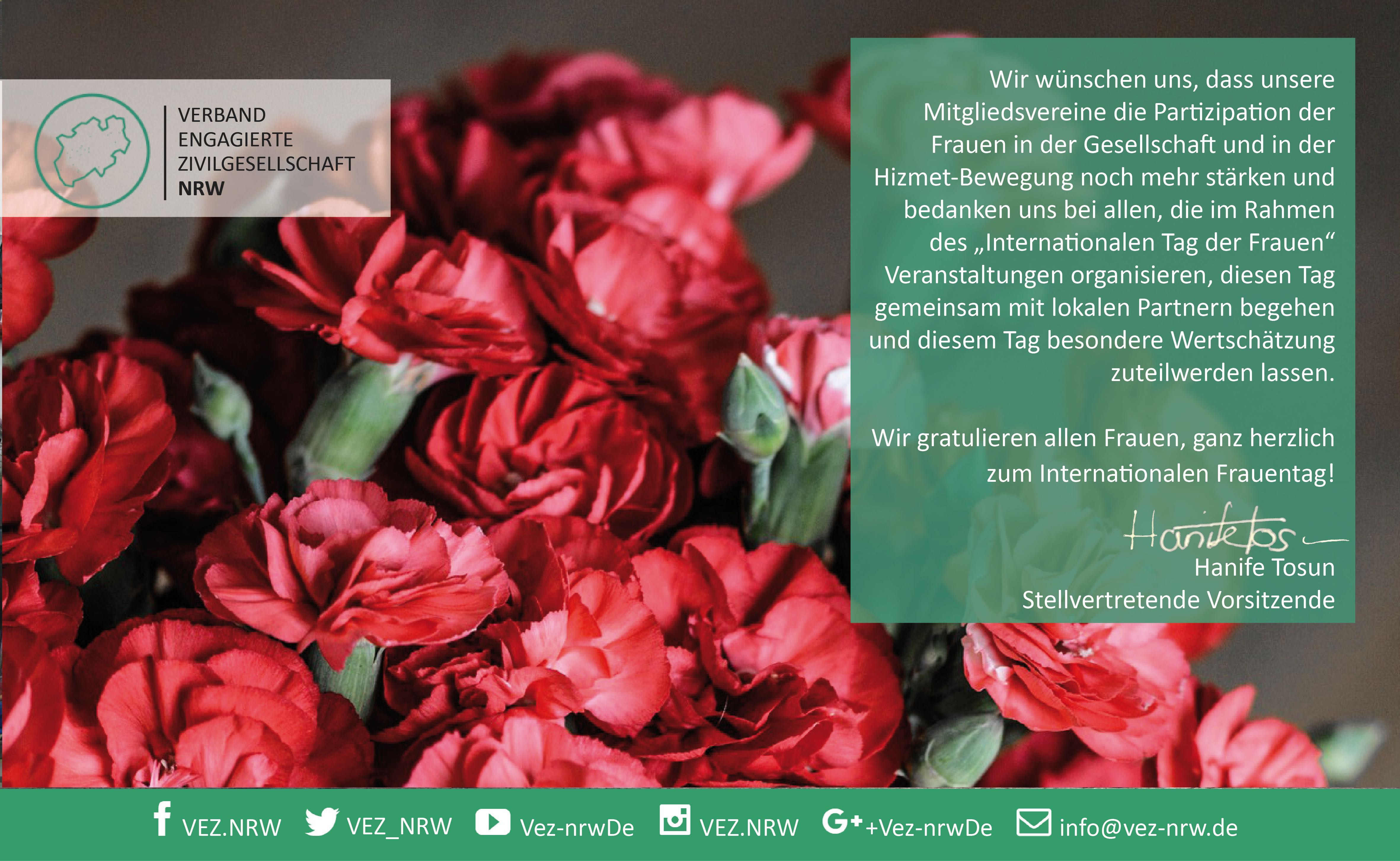 Ein Bild mit einer Botschaft anlässlich zum Weltfrauentag.