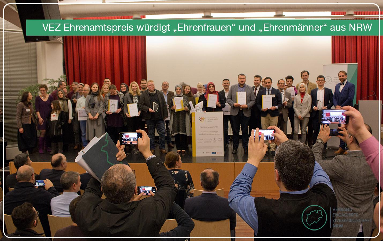 """VEZ Ehrenamtspreis würdigt """"Ehrenfrauen"""" und """"Ehrenmänner""""  aus NRW"""
