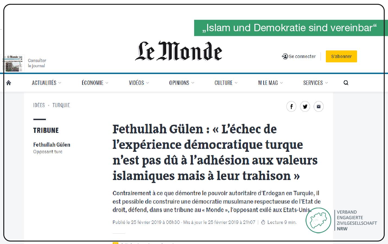 """Pressemitteilung: """"Islam und Demokratie sind vereinbar"""""""