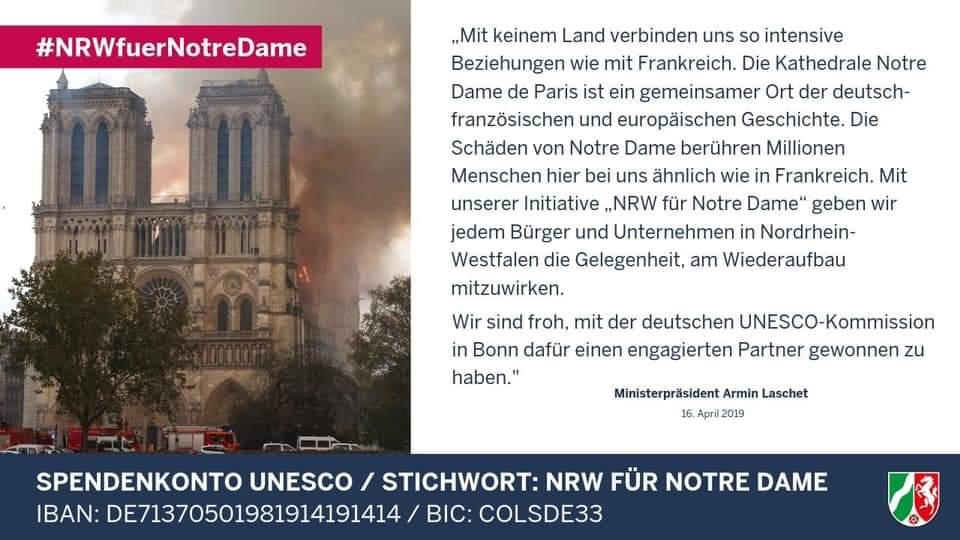 Notre Dame Spendenkonto