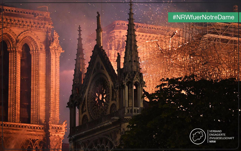 Brand der Kathedrale Notre-Dame de Paris – Anteilnahme des VEZ in NRW
