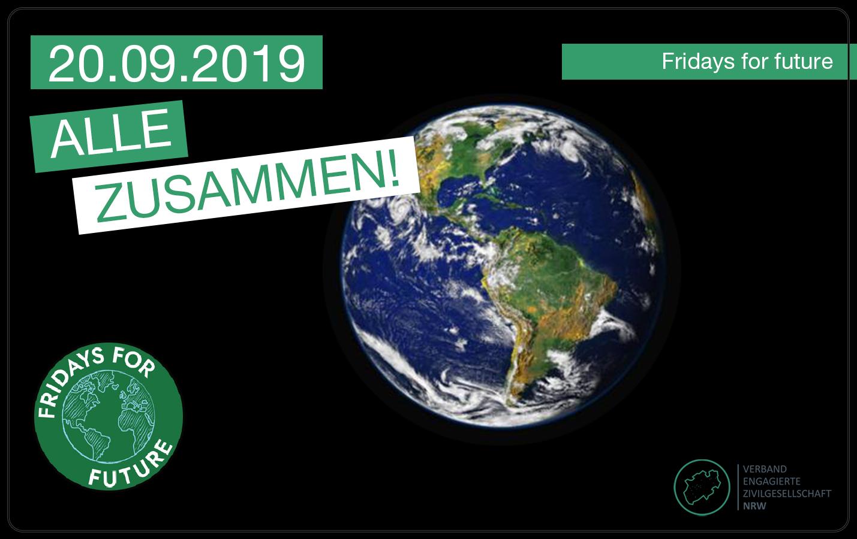 Fridays for future: – Aufruf des VEZ in NRW