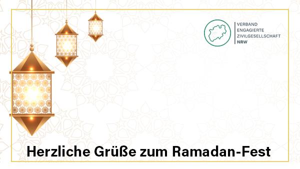 Herzliche Grüße zum Ramadan-Fest
