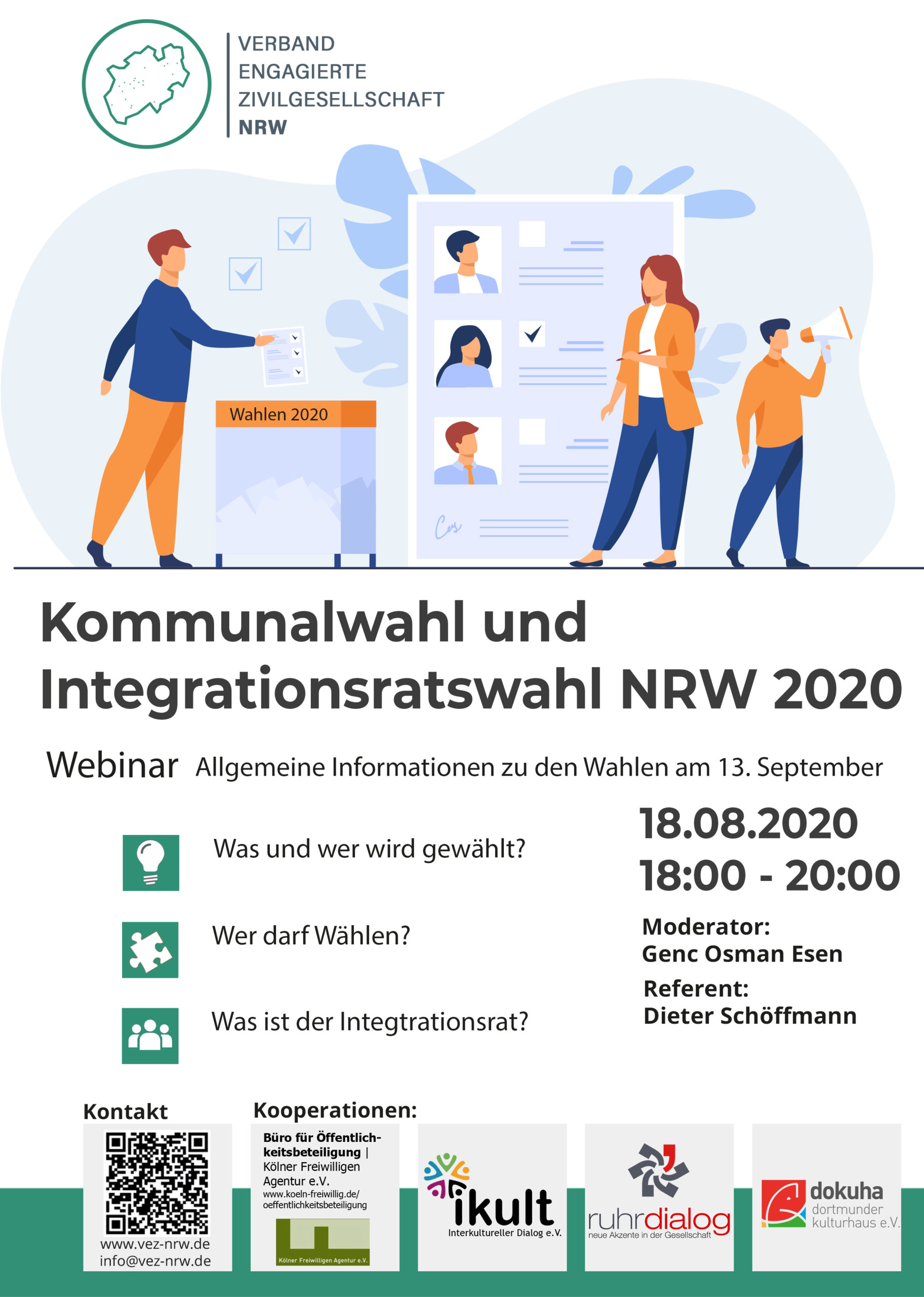 Kommunalwahl und Integrationsratswahl NRW 2020