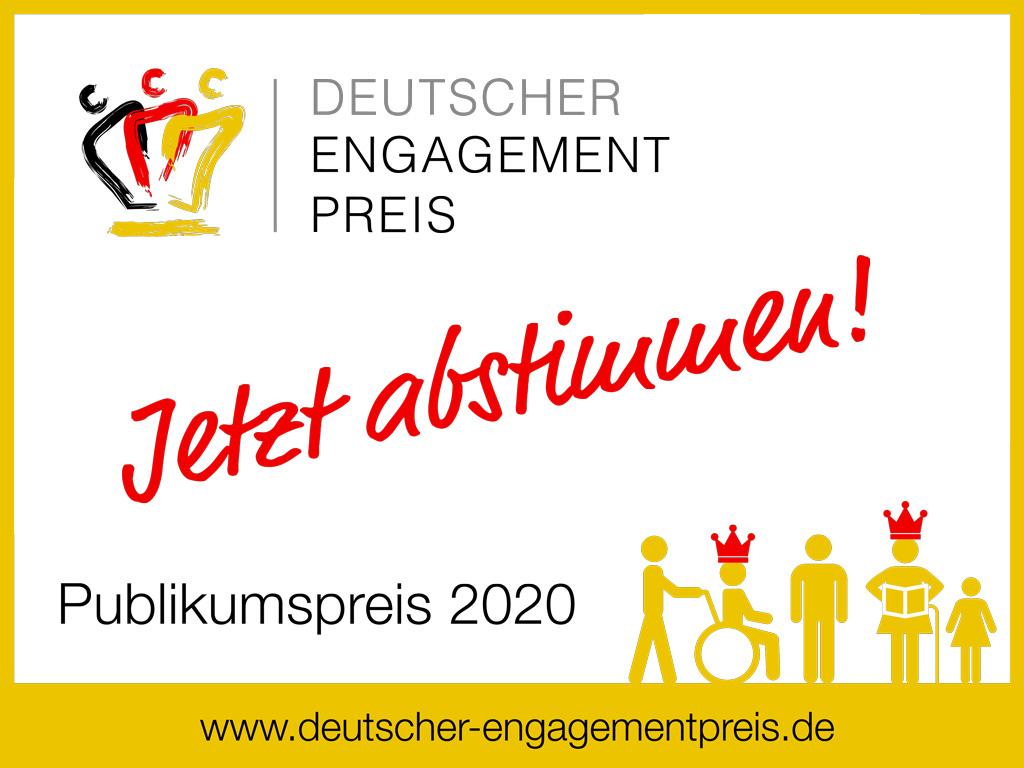 Jetzt abstimmen für den Deutschen Engagementpreis 2020!