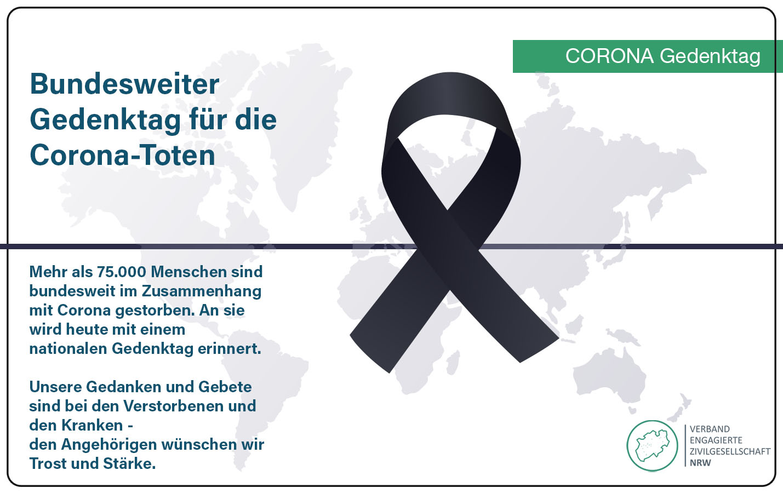 Bundesweiter Gedenktag für die Corona-Toten