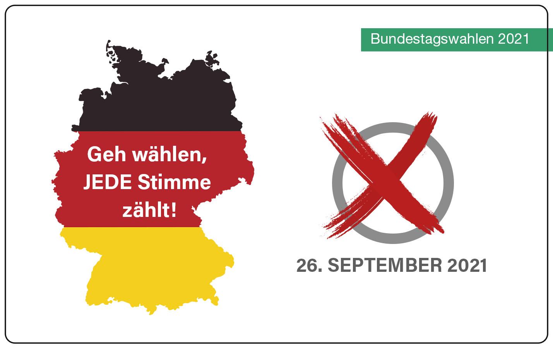 Geh wählen, JEDE Stimme zählt! Vorbereitung auf die Bundestagswahl