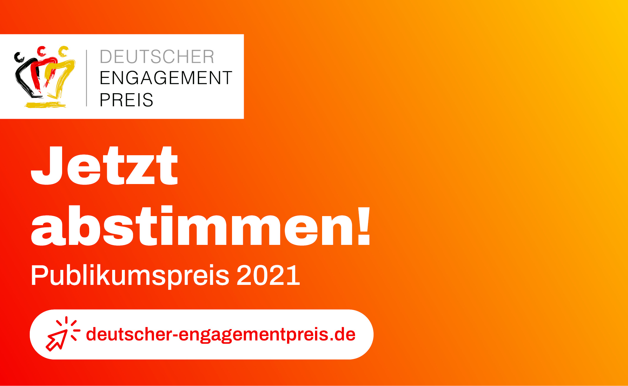 Jetzt abstimmen für den Deutschen Engagementpreis 2021!